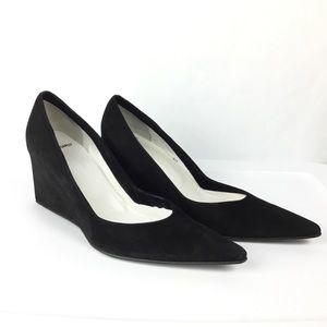 Pierre Hardy Womens Black Suede Shoes Heels Wedges